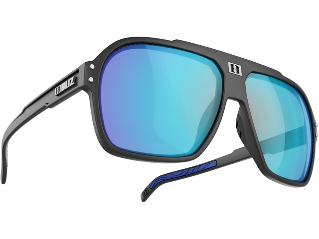 Bliz Targa M9 Glasses matt black/smoke with blue multi